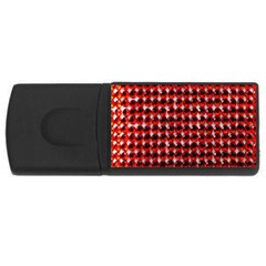 Deep Red Sparkle Bling 4Gb USB Flash Drive (Rectangle)