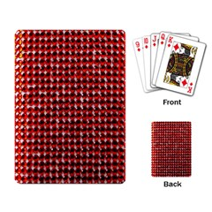 Deep Red Sparkle Bling Standard Playing Cards