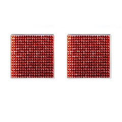 Deep Red Sparkle Bling Square Cuff Links
