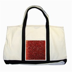 Deep Red Sparkle Bling Two Toned Tote Bag