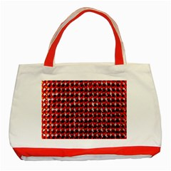 Deep Red Sparkle Bling Red Tote Bag