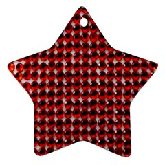 Deep Red Sparkle Bling Twin-sided Ceramic Ornament (Star)