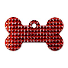 Deep Red Sparkle Bling Twin-sided Dog Tag (Bone)