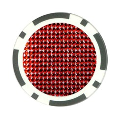 Deep Red Sparkle Bling Poker Chip