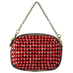 Deep Red Sparkle Bling Single-sided Evening Purse