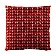 Deep Red Sparkle Bling Single Sided Cushion Case