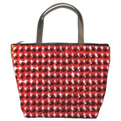 Deep Red Sparkle Bling Bucket Handbag