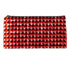 Deep Red Sparkle Bling Pencil Case