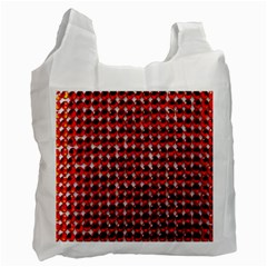 Deep Red Sparkle Bling Single-sided Reusable Shopping Bag