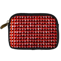 Deep Red Sparkle Bling Compact Camera Case