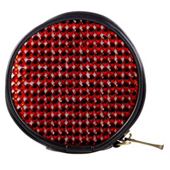 Deep Red Sparkle Bling Mini Makeup Case