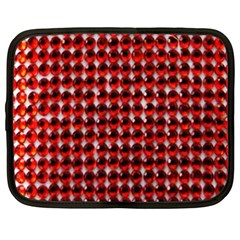 Deep Red Sparkle Bling 15  Netbook Case