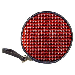 Deep Red Sparkle Bling Cd Wallet
