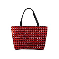 Deep Red Sparkle Bling Large Shoulder Bag