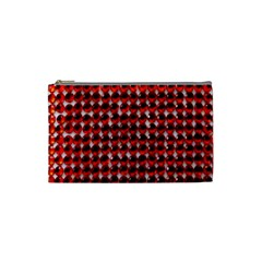 Deep Red Sparkle Bling Small Makeup Purse