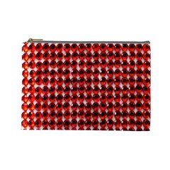 Deep Red Sparkle Bling Large Makeup Purse