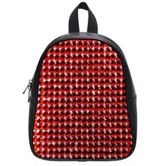 Deep Red Sparkle Bling Small School Backpack