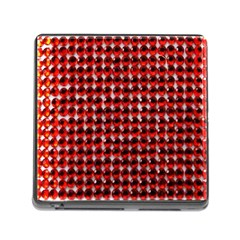 Deep Red Sparkle Bling Card Reader With Storage (square)