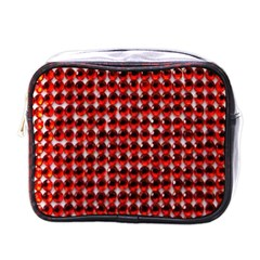 Deep Red Sparkle Bling Single Sided Cosmetic Case