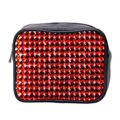 Deep Red Sparkle Bling Twin-sided Cosmetic Case