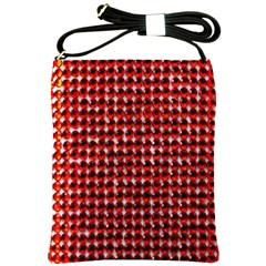 Deep Red Sparkle Bling Cross Shoulder Sling Bag