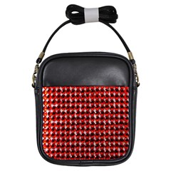 Deep Red Sparkle Bling Kids  Sling Bag