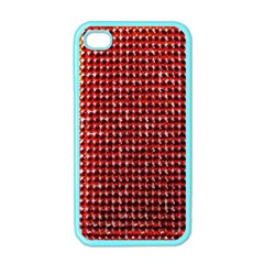 Deep Red Sparkle Bling Apple iPhone 4 Case (Color)