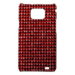 Deep Red Sparkle Bling Samsung Galaxy S II i9100 Hardshell Case