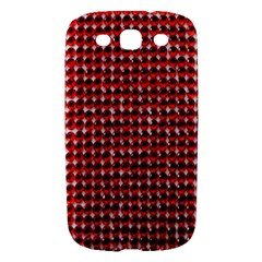Deep Red Sparkle Bling Samsung Galaxy S III Hardshell Case