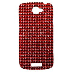 Deep Red Sparkle Bling HTC One S Hardshell Case