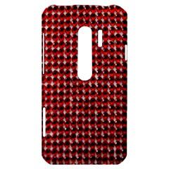 Deep Red Sparkle Bling HTC Evo 3D Hardshell Case