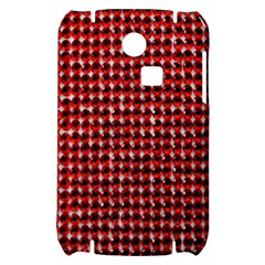 Deep Red Sparkle Bling Samsung S3350 Hardshell Case