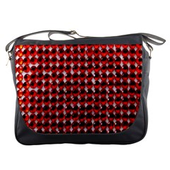 Deep Red Sparkle Bling Messenger Bag