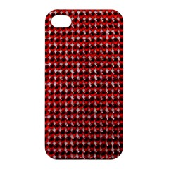 Deep Red Sparkle Bling Apple iPhone 4/4S Premium Hardshell Case