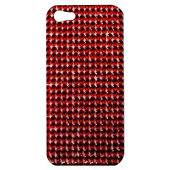 Deep Red Sparkle Bling Apple iPhone 5 Hardshell Case