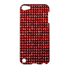 Deep Red Sparkle Bling Apple iPod Touch 5 Hardshell Case