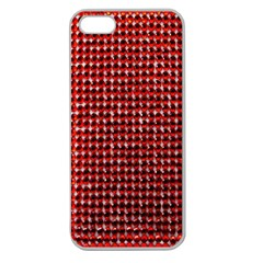Deep Red Sparkle Bling Apple Seamless iPhone 5 Case (Clear)