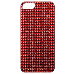 Deep Red Sparkle Bling Apple Iphone 5 Classic Hardshell Case