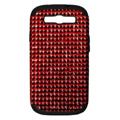 Deep Red Sparkle Bling Samsung Galaxy S III Hardshell Case (PC+Silicone)