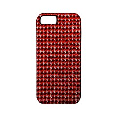 Deep Red Sparkle Bling Apple iPhone 5 Classic Hardshell Case (PC+Silicone)