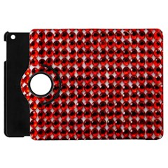 Deep Red Sparkle Bling Apple iPad Mini Flip 360 Case
