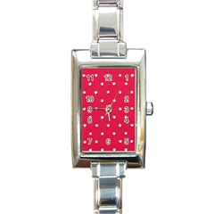Red Diamond Bling  Classic Elegant Ladies Watch (rectangle)