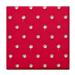 Red Diamond Bling  Ceramic Tile