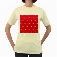 Red Diamond Bling  Yellow Womens  T Shirt