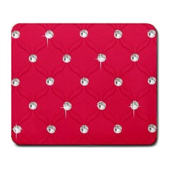 Red Diamond Bling  Large Mouse Pad (rectangle)