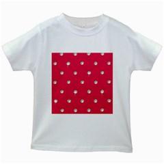 Red Diamond Bling  White Kids'' T-shirt