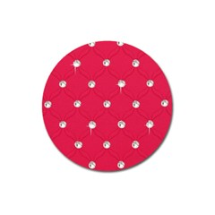 Red Diamond Bling  Large Sticker Magnet (Round)