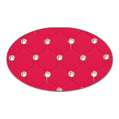 Red Diamond Bling  Large Sticker Magnet (Oval)