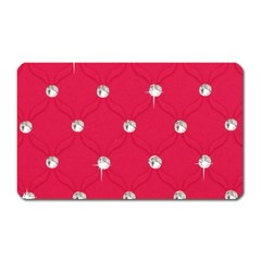 Red Diamond Bling  Large Sticker Magnet (Rectangle)
