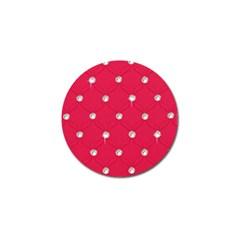 Red Diamond Bling  Golf Ball Marker